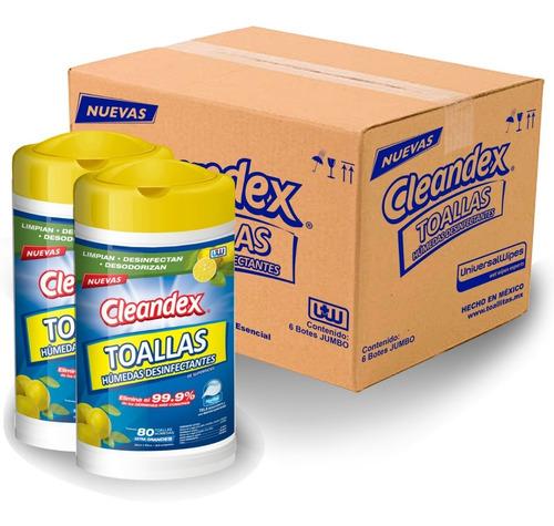 Imagen 1 de 6 de Cleandex Limón Toallas Para Superficies, Caja 6pz