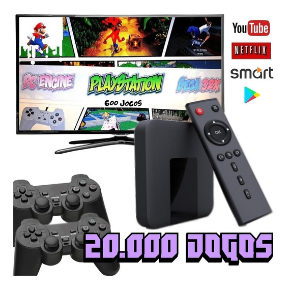 Vídeo Game Retrô Smart 20.000 Jogos + 2 Controles