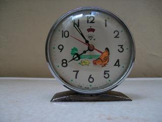 Reloj De Cuerda Gallina.para Reparar O Decoración