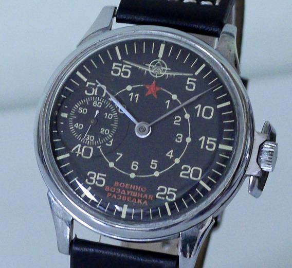 Relógio Militar Aviador Russo - Vintage - Raro - Grandão!!