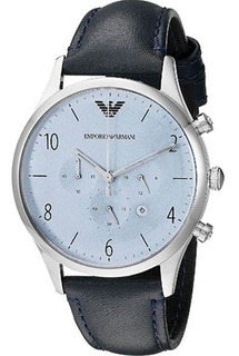 Reloj Armani Hombre Cuero Negro Ar1889 Agente Oficial.