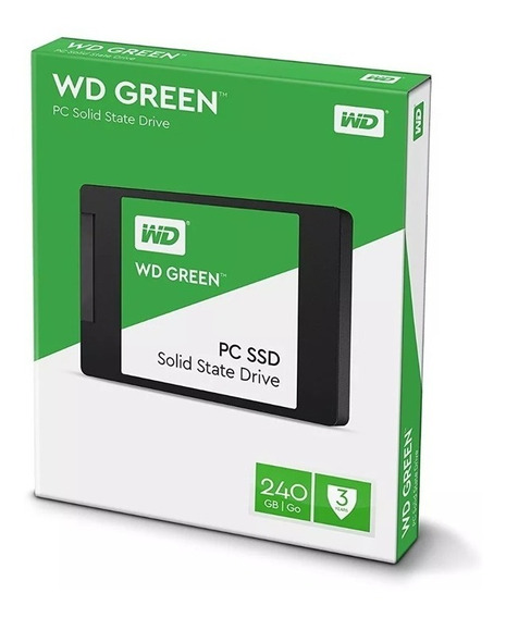 Hd Ssd 240gb Wd Green 540mb/s 7mm 2,5 Notebook Pc Sata 3