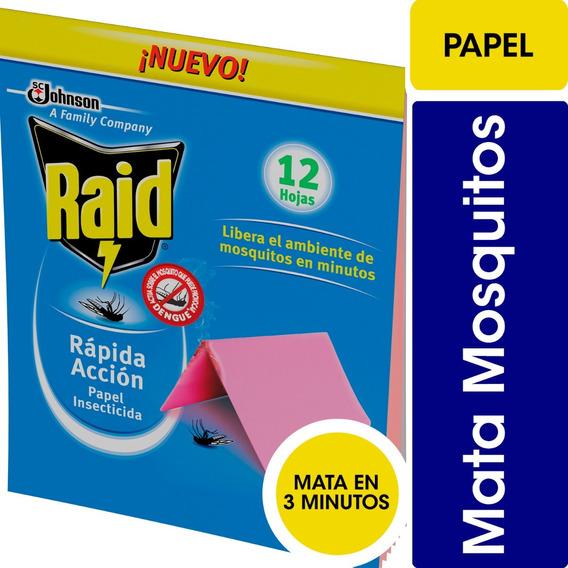 Raid Papel Insecticida Rapida Acción Mosquitos 240 Papelitos