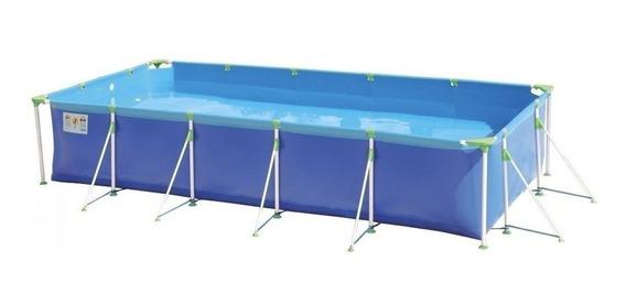 Piscina estrutural azul MOR 001027 retangular 4.42m de comprimento x 2.7m de largura
