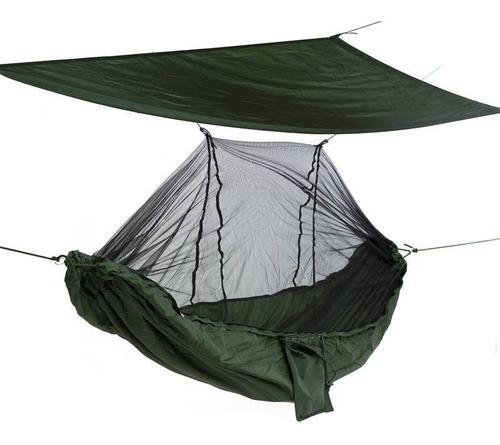 Rede Camping C/ Mosqueteiro Poliéster Bolsa Cordas Extras