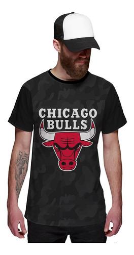 Imagem 1 de 5 de Camiseta Chicago Bulls Camuflada Exclusiva
