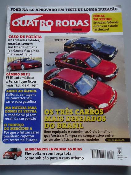 Quatro Rodas 450 Civic Vectra Tempra Opel Tigra Ford Puma