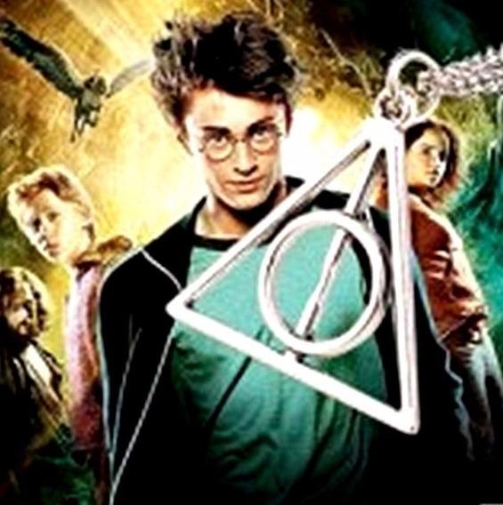 Colar Prateado Harry Potter Relíquias Da Morte Bronzeado