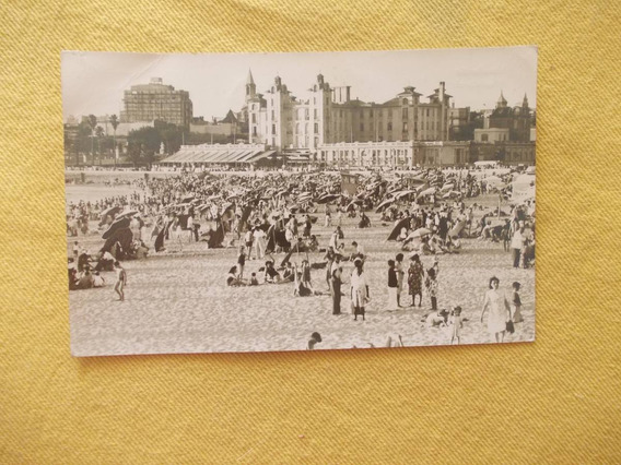 773- Postal Uruguay Municipio Montevideo Playa Ramirez 1948