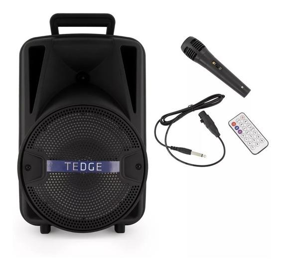 Caixa Som Portatil Sem Fio Bluetooh Karaoke C/microfone Nfe
