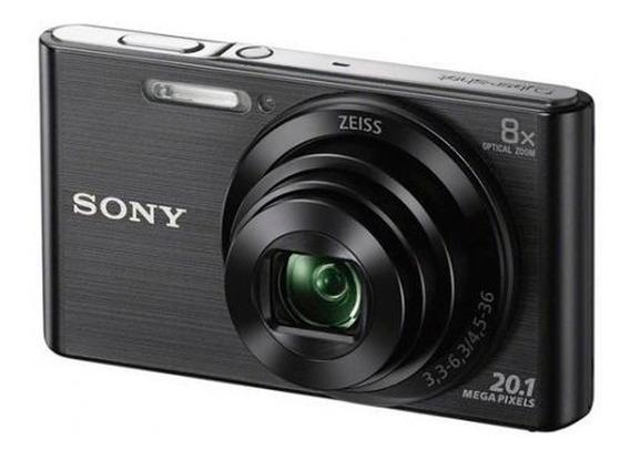 Câmera Digital Sony W830 20.1mp, 8x Zoom Óptico, Preta