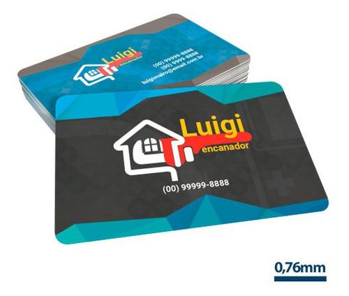 Imagem 1 de 1 de 500x Cartão De Visita Pvc Personalizado 0,5mm