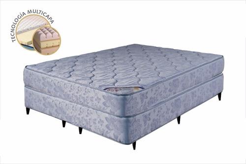 Sommier Queen Espuma Alta Densidad Ortopedico Pillow