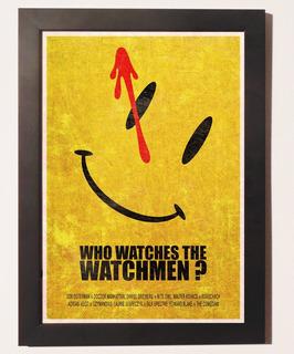 Quadro Poster C.moldura Watchmen O Filme Dc Comics