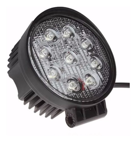 Farol Led Milha Redondo 27w Troller Jeep 12v 24v Off Road
