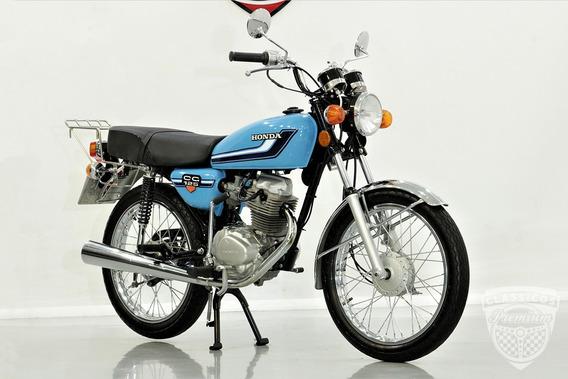 Honda Cg 125 1980 80 - Original - Antiga - Bolinha - Azul