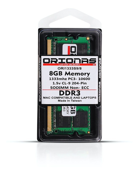 Memoria Ddr3 8gb 1333mhz Notebook Macbook Pc3-10600s Lacrada