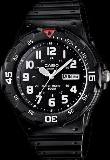 Casio Mrw-200h-1bvcf Reloj Análogo Para Hombre, Negro/blanco
