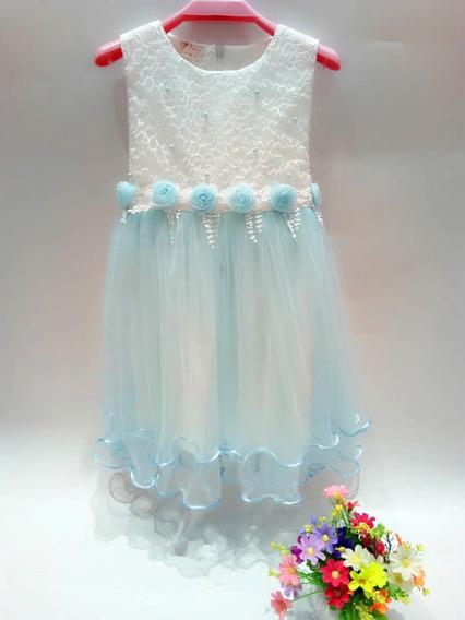 Vestido Importado Nena Tull Fiesta Evento Talle 4a8 C8738