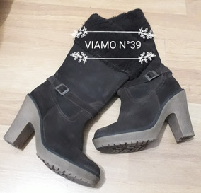 Botas De Cuero Descarnado Chocolate Viamo N°39