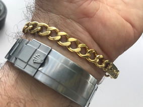 Pulseira Ouro 18k-750-27,40 Gr- 21cm.- 8mm Larg.
