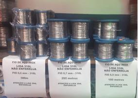 Fio Arame Aço Inox Liga 316l 0,9mm Não Enferruja Aquicompras