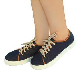 Tênis Casual Jeans Azul 33, 34 35 E 36