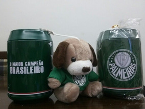 Palmeiras Cachorrinho Urso Dentro Lata Cofre Presente