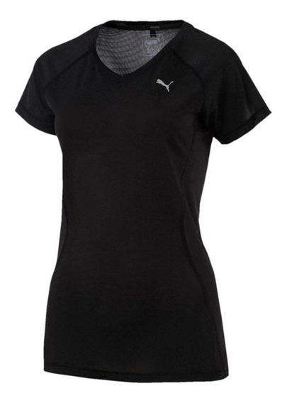 Puma Remera Running Mujer Core Run S / S Negro
