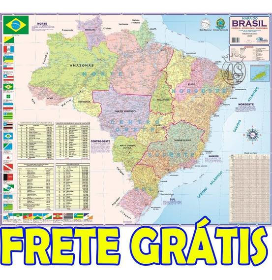 Mapa Brasil Politico Rodoviário Escolar + Frete Grátis!!