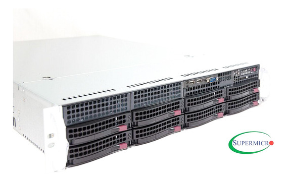 Servidor Supermicro Rack Dual Xeon Quad Core 2tb 32gb Ram