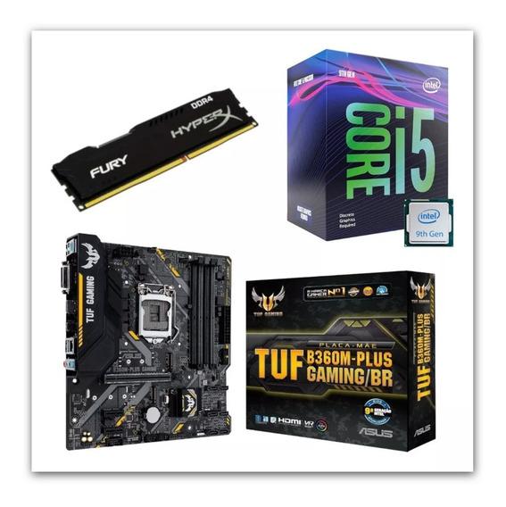 Kit Intel I5 9400f + Tuf B360m Plus Gaming + Hx 8gb 2400