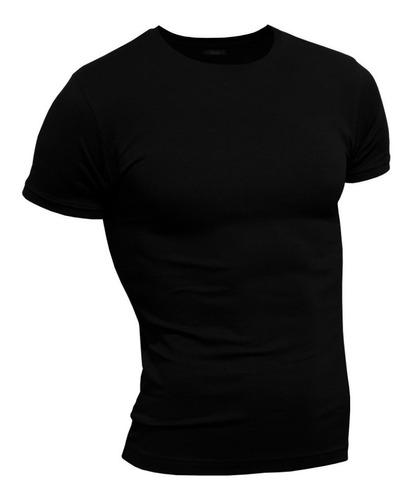 Remera Premium Hombre ALG. Elastizada Entallada / Slim Fit