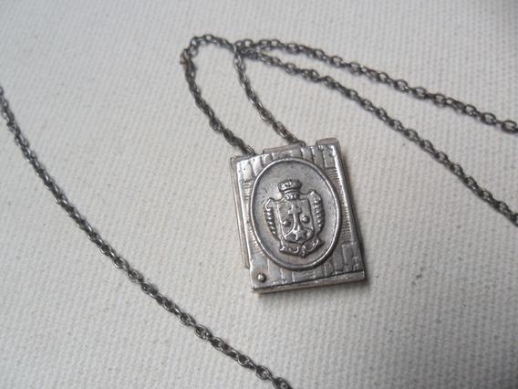 Escapulario/pingentec/relicario- Antigo-prata 0800