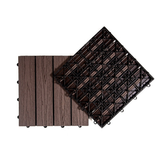 Baldosas Pvc Wpc Deck Encastrable Simil Madera Exterior Veteado