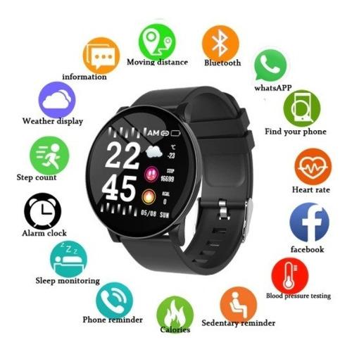 Imagen 1 de 8 de Smartwatch Reloj iPhone Samsung Xiaomi Huawei W8
