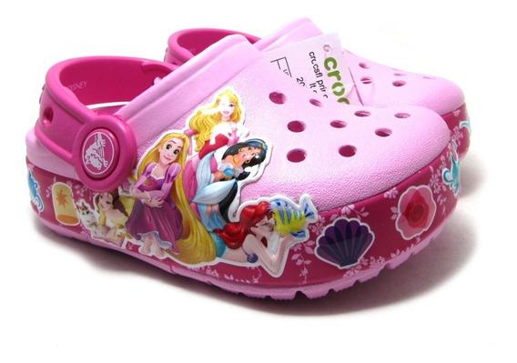 Zuecos Crocs Princess Con Luz Niñas Original Princesas