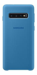 Capa Protetora Silicone Samsung S10 Azul