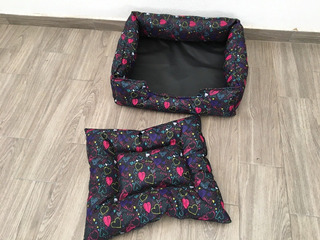Cama Colchón Impermeable Corazones Perro Gato 64 X 55 X 22cm