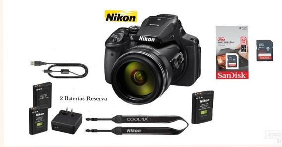 Câmera Coolpix P900 Nikon + 2 Baterias El-en 23 +cartão 32gb