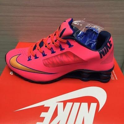Tenis Nike Shox Superfly Rosa E Azul Nº42 Original Na Caixa
