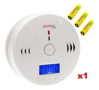 Detector Digital Monoxido Humo, Mxske-001, 85db, Blanco, Bat