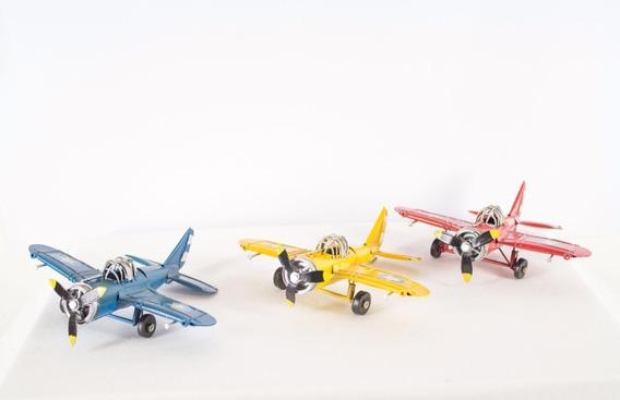 Avión Antiguo Decoración - Valor Por 3 Aviones