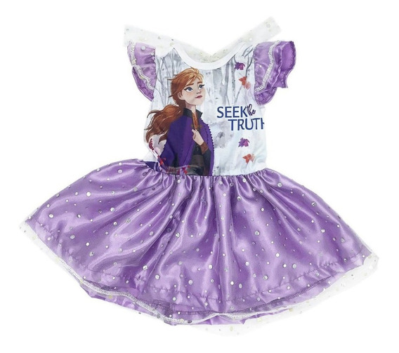 Vestido Algodon Disney Ana Frozen