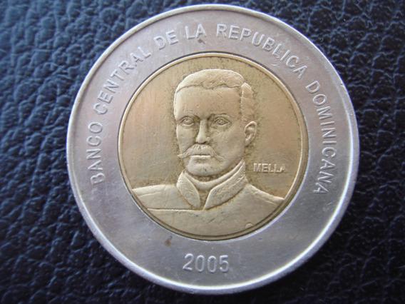 República Dominicana - Moneda Bimetalica De 10 Pesos, 2005