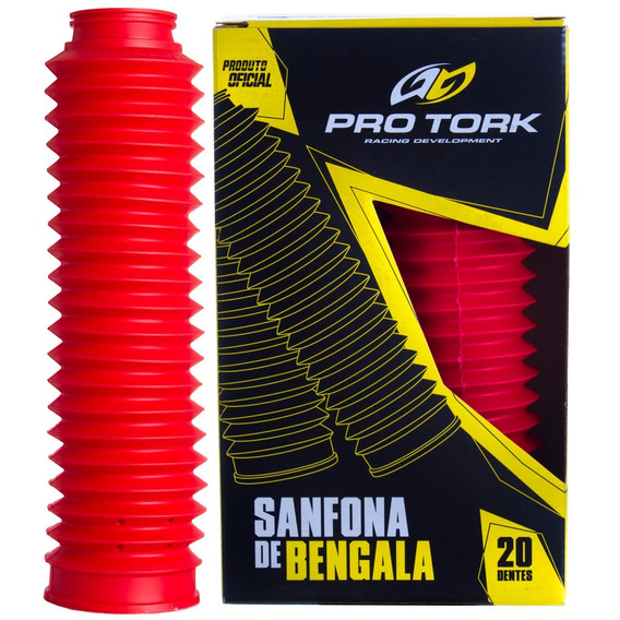 Sanfona De Bengala Xtz 125 Nxrt 125/150 Pro Tork Vermelho