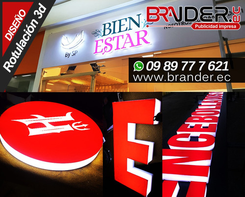 Imagen 1 de 10 de Rotulos 3d Quito, Cajas De Luz, Letras Corporeas