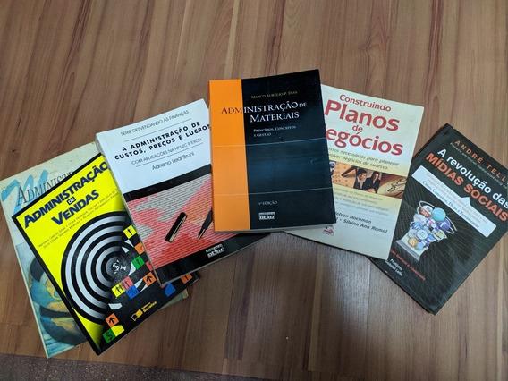 Livros De Administração 6 Livros Marketing, Vendas, Custos