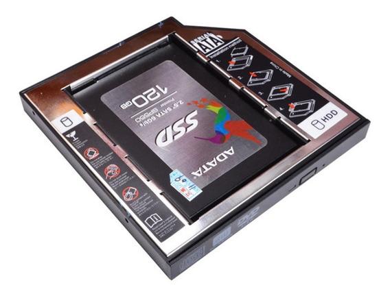 Adaptador Caddy 9,5mm Hd Ssd Sata Notebook Sony Hp Baia Dvd
