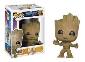 Funko Pop! Marvel - Guardiões Das Galáxias - Groot #202 Orig